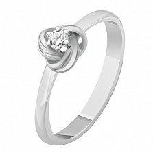 Кольцо из белого золота с бриллиантом Розамунда