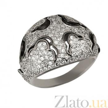 Кольцо из белого золота Ампир с фианитами VLT--ТТ1022