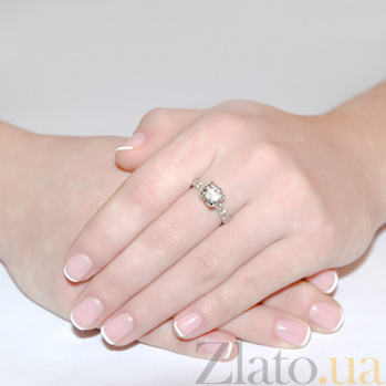Золотое кольцо с неповторимым бриллиантом Hettie R0802