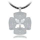 Крестик из белого золота с бриллиантом Тайна: Источник