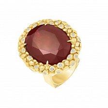 Золотой перстень Осман с рубином и бриллиантами