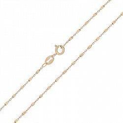 Серебряная цепь с позолотой, 1 мм 000025976