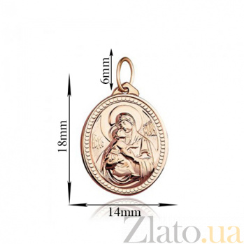 Золотая  ладанка Божья Матерь Владимирская EDM--П0143