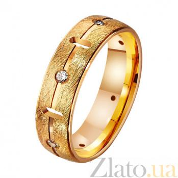 Золотое обручальное кольцо с фианитами Созвездие любви TRF--412449