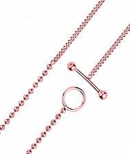 Серебряный браслет в панцирном плетении с шариками и позолотой 000131805