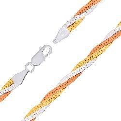 Серебряный браслет Лнда с позолотой, 4 мм 000026093