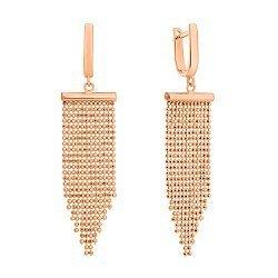 Серьги-подвески из красного золота 000125585