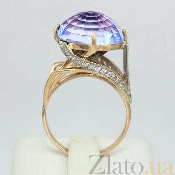 Золотое кольцо с топазом и фианитами Деметрия VLN--112-694-1