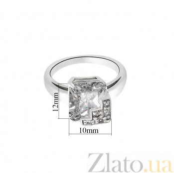 Серебряное кольцо Снежная королева с фианитом 10000137