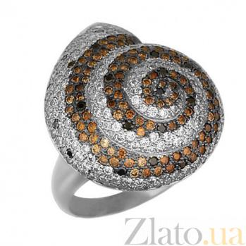Кольцо из белого золота Ракушка с фианитами VLT--ТТ1012
