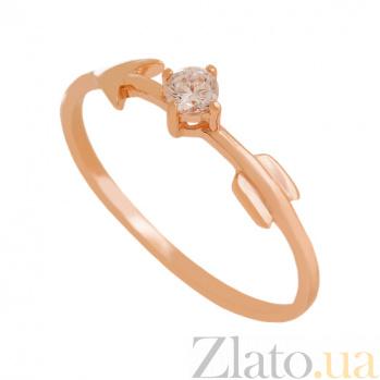 Золотое кольцо с фианитом Стрела Амура VLN--212-1793