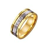 Золотое обручальное кольцо Модный образ