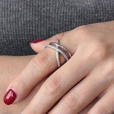 Серебряное кольцо Тропик с цирконием