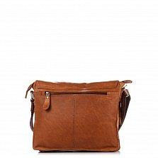 Кожаная мужская сумка HILL BURRY 870552 коричневого цвета на молнии под клапаном