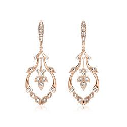 Серьги из розового золота с бриллиантами В объятиях рассвета 000008542