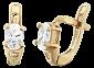 Серебряные серьги с позолотой и фианитами Грейс SLX--С3Ф/092