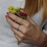 Серебряное кольцо Жаннет с фианитами цвета сапфир