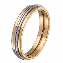 Обручальное кольцо в желтом и белом золоте Вдохновение