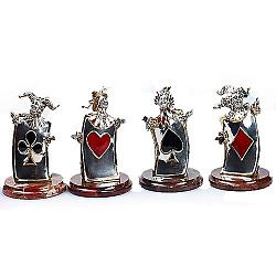 Дизайнерская серебряная композиция с яшмой, цветной эмалью и позолотой 000004401
