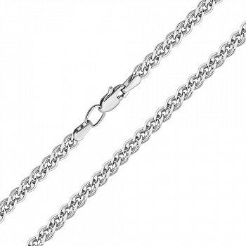 Срібний ланцюжок в плетінні нонна з алмазною гранню 000122864