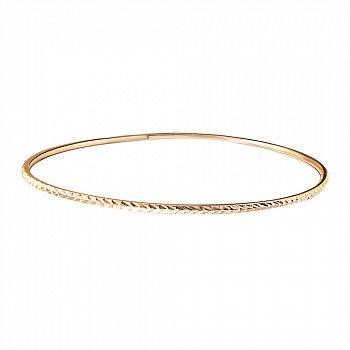 Золотой жесткий браслет Колосок с алмазной гранью 000071629