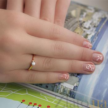 Золотое кольцо с цирконием  3523248