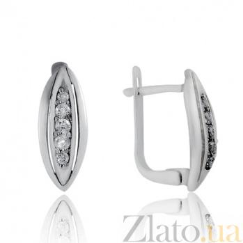 Серебряные серьги Для любимой 10030081