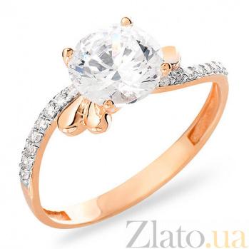 Золотое кольцо с фианитами Антонет SUF--153113
