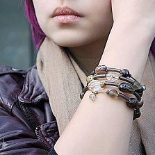 Спиральный браслет Ианита с агатами, раухтопазами, муранским стеклом и кристаллами Swarovski
