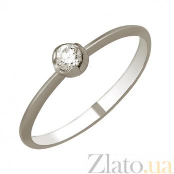 Кольцо из белого золота с фианитом Полетта 000023190