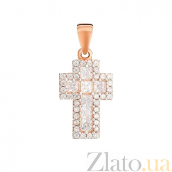 Золотой крестик Сияющий стиль SUF--440428