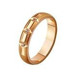 Золотое обручальное кольцо Женева с фианитами