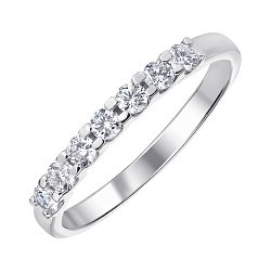 Кольцо из белого золота с бриллиантами 000141498