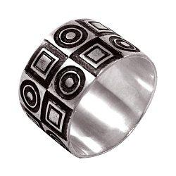 Кольцо из серебра Antipode с чернением 000091444
