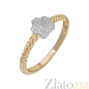 Кольцо из красного золота Аромат жасмина с бриллиантами 000082001