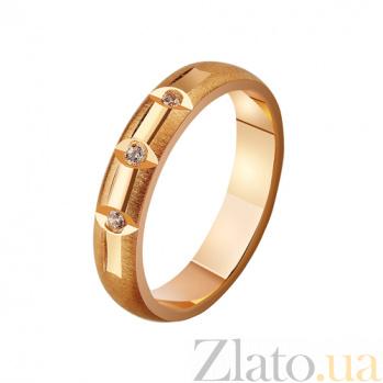 Золотое обручальное кольцо Женева с фианитами TRF--4121229