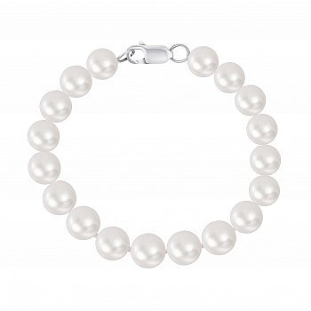 Браслет зі срібла і перлів d 10-10,5 мм 000148103