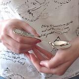 Серебряная ложка чайная Часики