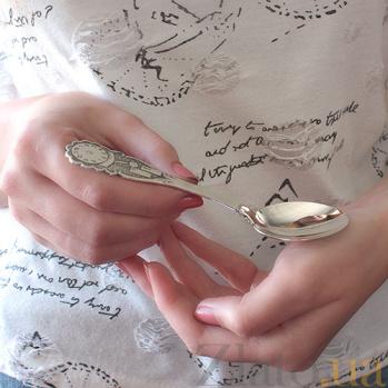 Серебряная ложка чайная Часики ZMX--1285_4010