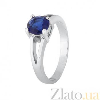 Серебряное кольцо Мелита с сапфировым фианитом 000028365