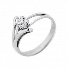 Кольцо из белого золота Gloria с бриллиантом