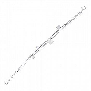 Браслет из серебра с фианитом 000147365