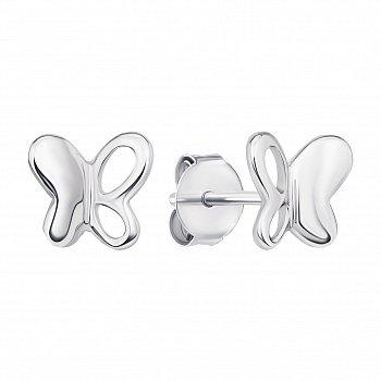 Серебряные серьги-пуссеты в стиле минимализм 000133724