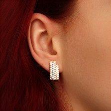 Серьги из красного золота Соблазн с бриллиантами