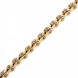 Золотая массивная цепь Baraka Бирмингем с бриллиантом 000033395