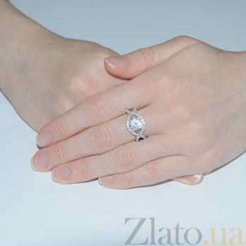 Серебряное кольцо с цирконием Танго Танго к/бел цир