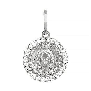 Серебряный подвес-ладанка с фианитами  Иисус Христос  000034017