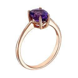 Кольцо из красного золота с аметистом 000127109