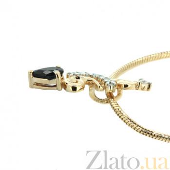 Подвес из желтого золота с сапфиром и бриллиантами Генриетта ZMX--PDS-5594y