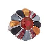 Золотое кольцо Milana с миксом камней